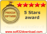 Advanced Email Verifier 7.0 5 stars award