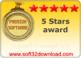Bagusoft Password Safe - 5 stars award
