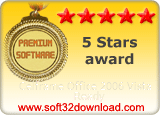 Celframe Office 2006 Vista Ready 5 stars award