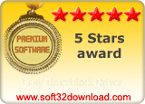 Easy Time Clock Driver - 5 stars award