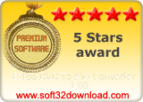 Eztoo DVD To AVI Converter 1.00 5 stars award