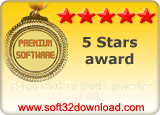 Eztoo DVD To iPod Converter 1.00 5 stars award