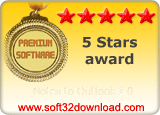 Notes to Outlook 1.0 5 stars award