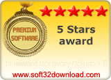 Password Recovery Deluxe 1.0 5 stars award