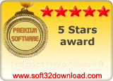 Protected Photo Album 1.0 5 stars award