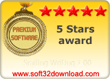 Smiling Writing 1.00 5 stars award