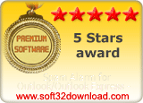 Spam Alarm for Outlook/Outlook Express - 5 stars award