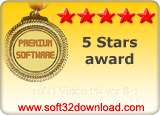 Total Video Player 8.4 5 stars award