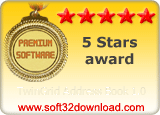 TwinGrid Address Book 1.0 5 stars award