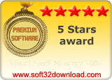 Visual Asset Manager 2002 - 5 stars award