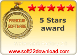 Watermark Factory 2.0 5 stars award