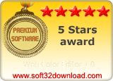 Web Color Editor 1.0 5 stars award