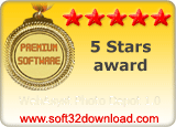 WebAsyst Photo Depot 1.0 5 stars award