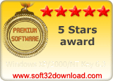 Windows XP/2000/NT Key 6.3 5 stars award