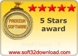 Word Crunch 1.0 5 stars award