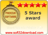 Word Search Printer 3.51 5 stars award