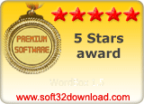 WordBox 1.5 5 stars award