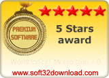 WordPerfect Macro Run 1.0 5 stars award