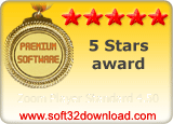Zoom Player Standard 4.50 5 stars award