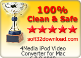 4Media iPod Video Converter for Mac 6.8.0.1019 Clean & Safe award