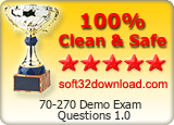 70-270 Demo Exam Questions 1.0 Clean & Safe award