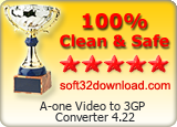 A-one Video to 3GP Converter 4.22 Clean & Safe award