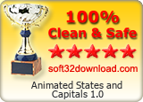 Animated States and Capitals 1.0 Clean & Safe award