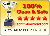 AutoCAD to PDF 2007 2010 Clean & Safe award