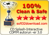 CD Splash-Interactive CDPlM autorun -er 3.0 Clean & Safe award