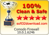 Comodo Firewall 10.0.1.6246 Clean & Safe award