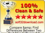 Compare & Find Differences Between Two Text Files Software 7.0 Clean & Safe award
