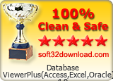 Database ViewerPlus(Access,Excel,Oracle) 4.0 Clean & Safe award