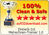 Dreieck-1x1 Malrechnen-Trainer 1.0 Clean & Safe award