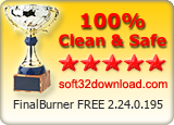 FinalBurner FREE 2.24.0.195 Clean & Safe award