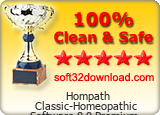 Hompath Classic-Homeopathic Software 8.0 Premium Clean & Safe award