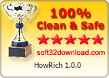 HowRich 1.0.0 Clean & Safe award