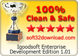 Igoodsoft Enterprise Development Edition 1.01 Clean & Safe award