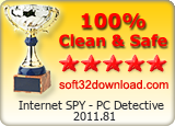 Internet SPY - PC Detective 2011.81 Clean & Safe award