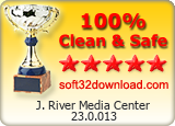 J. River Media Center 23.0.013 Clean & Safe award