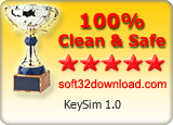 KeySim 1.0 Clean & Safe award