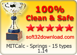 MITCalc - Springs - 15 types 1.14 Clean & Safe award