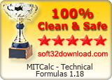 MITCalc - Technical Formulas 1.18 Clean & Safe award