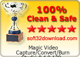 Magic Video Capture/Convert/Burn Studio 8.4.9.129 Clean & Safe award