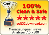 ManageEngine Firewall Analyzer 7.5.7500 Clean & Safe award
