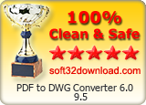 PDF to DWG Converter 6.0 9.5 Clean & Safe award