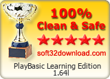 PlayBasic Learning Edition 1.64l Clean & Safe award
