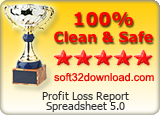 Profit Loss Report Spreadsheet 5.0 Clean & Safe award