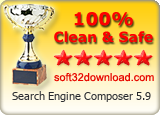 Search Engine Composer 5.9 Clean & Safe award