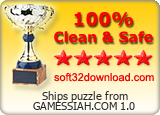 Ships puzzle from GAMESSIAH.COM 1.0 Clean & Safe award