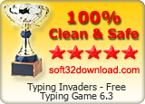 Typing Invaders - Free Typing Game 6.3 Clean & Safe award